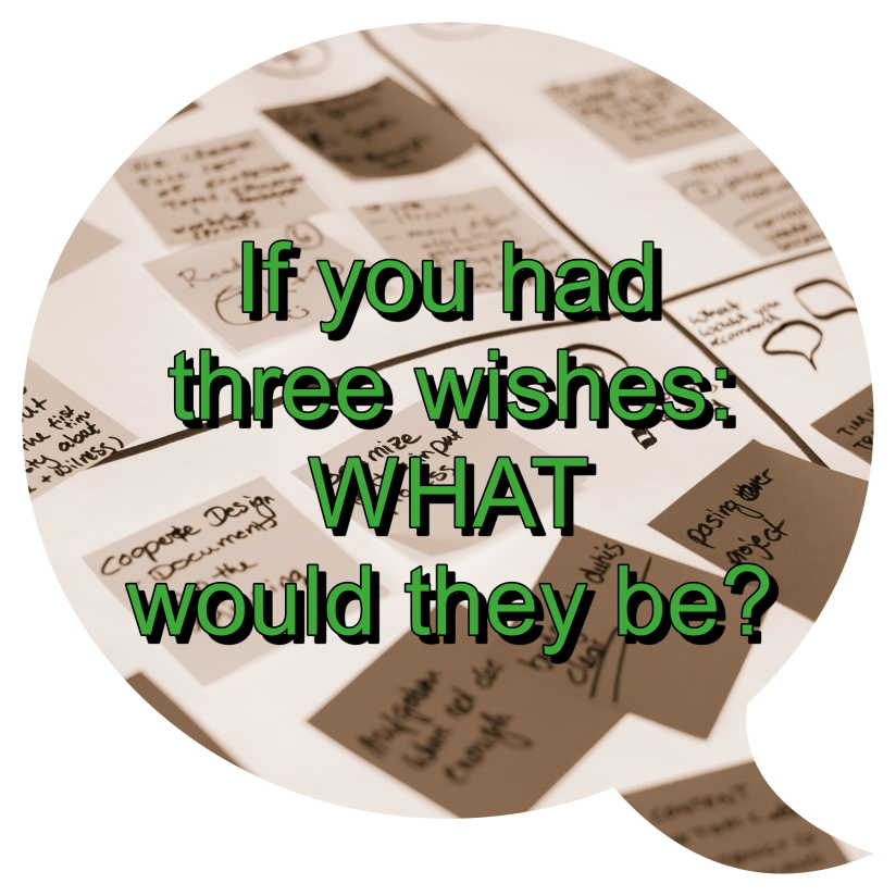 If you had three wishes: What would they be?