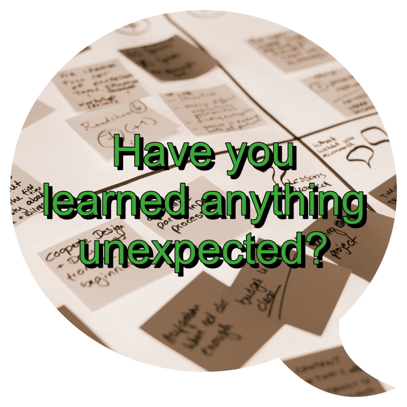 Have you learnt anything unexpected?